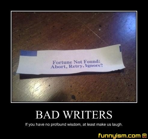 bad writers