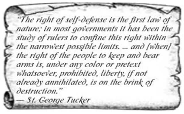 ST GEorge Tucker Quote