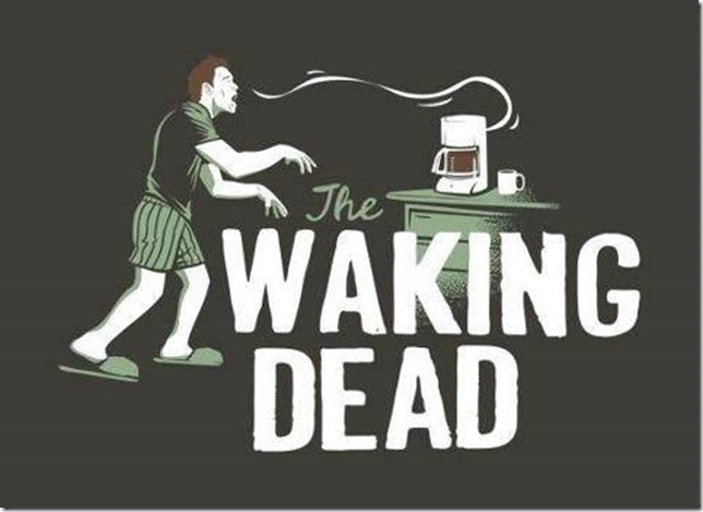 coffee waking dead