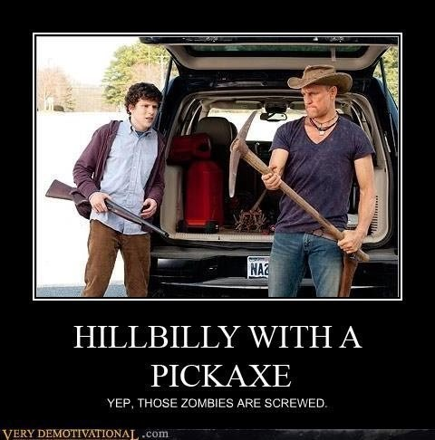 Hillbilly with a pickaxe