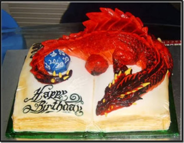 Dragon & D20 Birthday Cake
