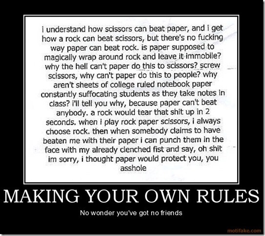 Making your own rules