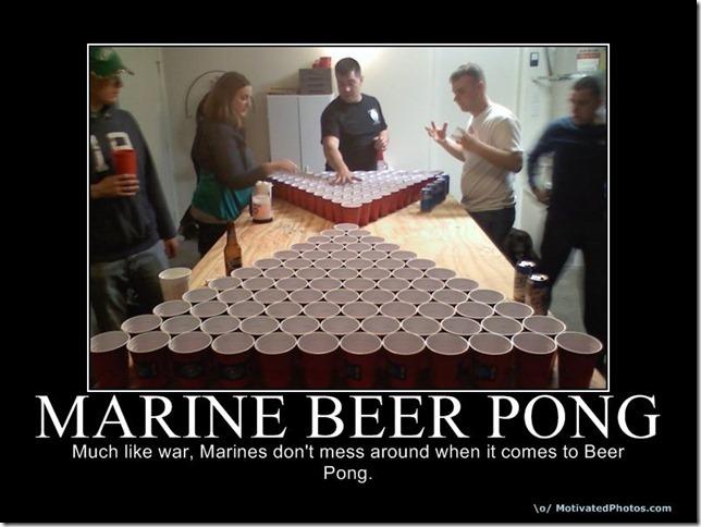 marine beer pong