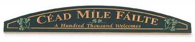 Cead Mile Failte Door plaque