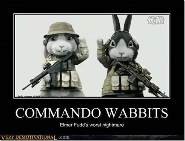 Motivational Commando Wabbits