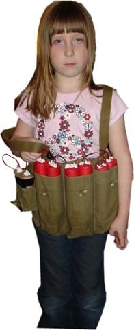 Izzy with vest
