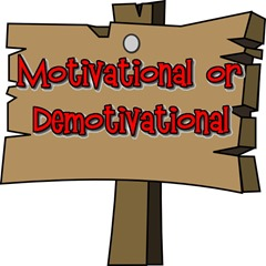 motivational wooden sign