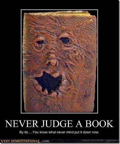 Never judge a book