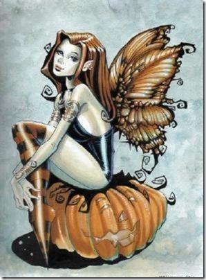 Fairy on pumpkin