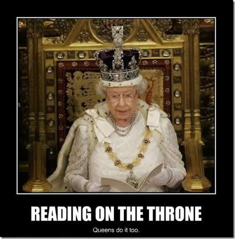 Reading on the Throne
