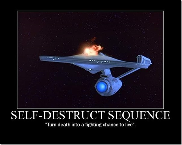 Selfdestruct sequence
