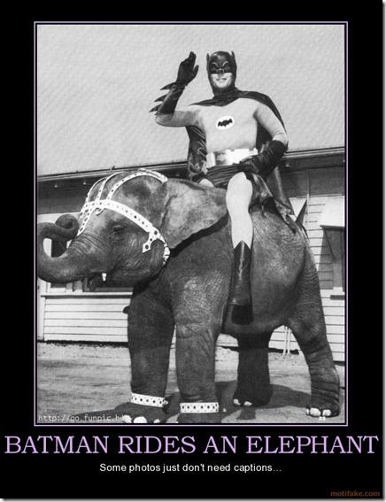 BatmanRidesAnElephant