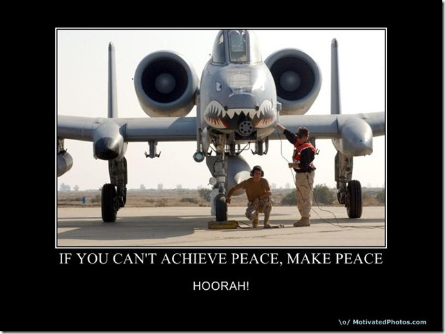 If you can't achieve peace