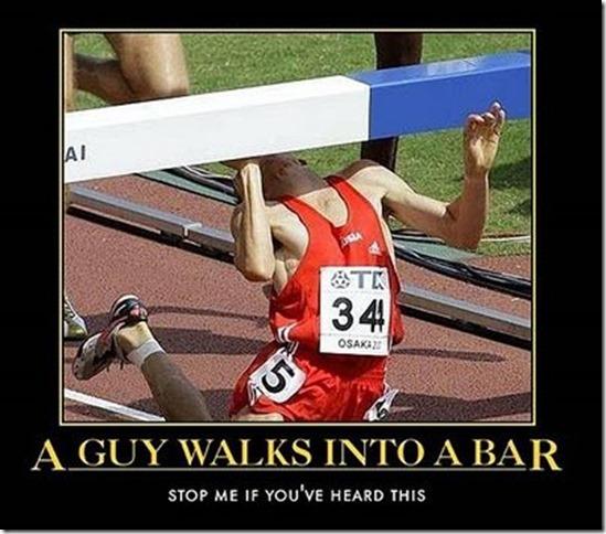 a guy walks into a bar