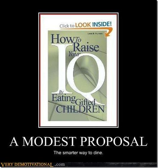 A modest Proposal