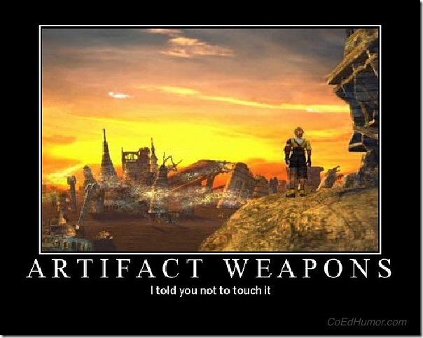 Artifact Weapons