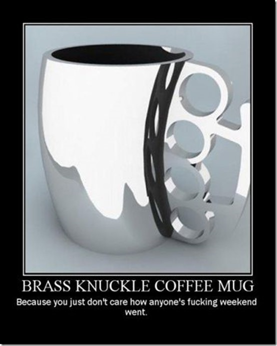Brass Knuckle Coffee Cup