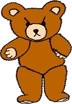 Angry Bear Cartoon drawing