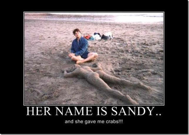 Her name is sandy